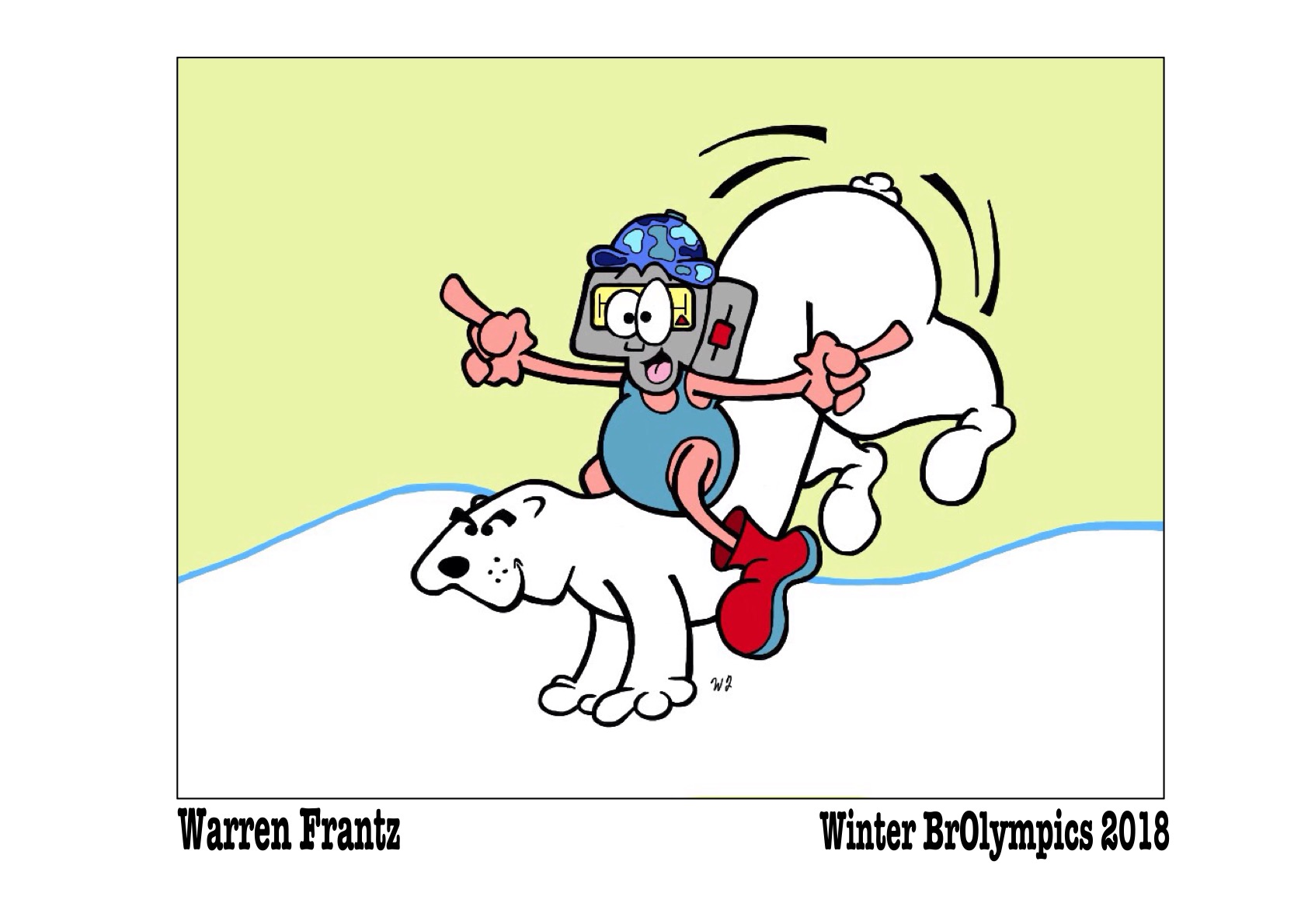 BrOlympic Polar Bear-Back Riding